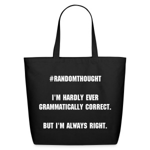 Gramatically Correct - Eco-Friendly Cotton Tote