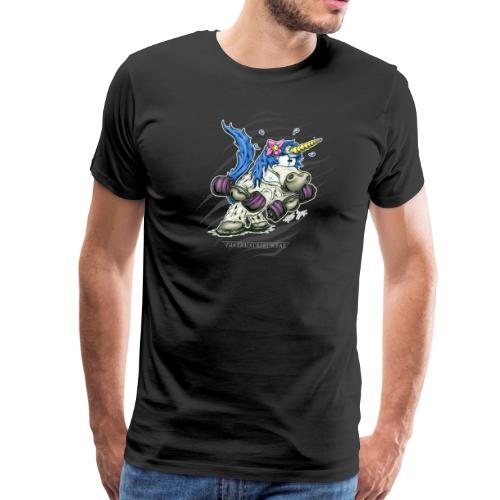 Train like a unicorn blue - Men's Premium T-Shirt