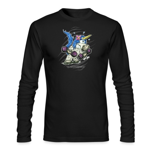 Train like a unicorn blue - Men's Long Sleeve T-Shirt by Next Level