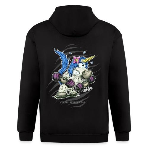 Train like a unicorn blue - Men's Zip Hoodie