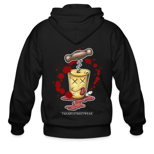 murdered redwine-cork - Men's Zip Hoodie