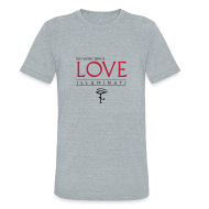 T-Shirts ~ Unisex Tri-Blend T-Shirt ~ Illuminati Master - Vintage Dark Print
