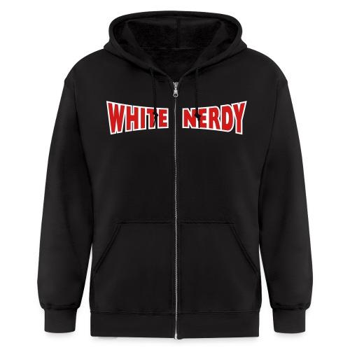 WHITE NERDY HOODIE Zipper SWEATSHIRT - Men's Zip Hoodie