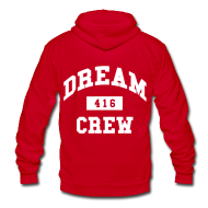 Zip Hoodies & Jackets ~ Unisex Fleece Zip Hoodie by American Apparel ~ Dream Crew 416 Zip Hoodies/Jackets