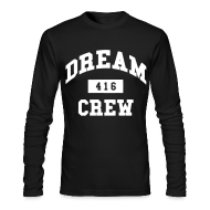 Long Sleeve Shirts ~ Men's Long Sleeve T-Shirt by American Apparel ~ Dream Crew 416 Long Sleeve Shirts