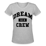 Women's T-Shirts ~ Women's V-Neck T-Shirt ~ Dream Crew 416 Women's T-Shirts