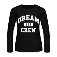 Long Sleeve Shirts ~ Women's Long Sleeve Jersey T-Shirt ~ Dream Crew 416 Long Sleeve Shirts