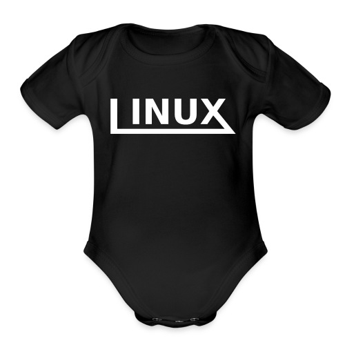 Linux - Organic Short Sleeve Baby Bodysuit