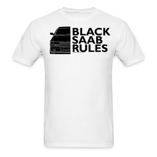 Black Saab Rules! Graphic Tee - Men's T-Shirt