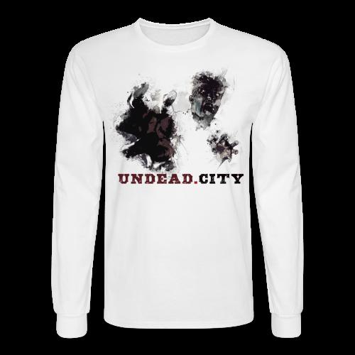 Zombie Long Sleeved Shirt for Men - Men's Long Sleeve T-Shirt