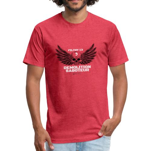 Salvo Wings - Fitted Cotton/Poly T-Shirt by Next Level
