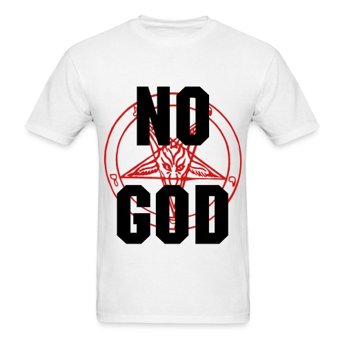 No God - Baphomet / Inverted Cross - Men's T-Shirt
