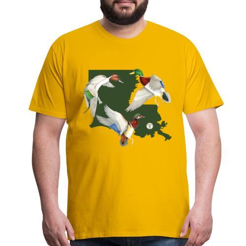 Louisiana ducks - Men's Premium T-Shirt