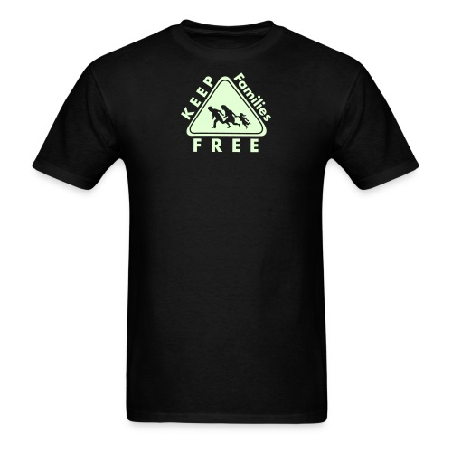 Keep Families FREE - Glow in the Dark - Men's T-Shirt