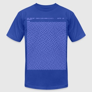 10 PRINT CHR$(205.5 RND(1)); : GOTO 10 T-Shirts - Men's T-Shirt by American Apparel