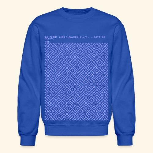 10 PRINT CHR$(205.5 RND(1)); : GOTO 10 - Crewneck Sweatshirt