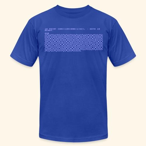 10 PRINT CHR$(205.5 RND(1)); : GOTO 10 - Men's Fine Jersey T-Shirt