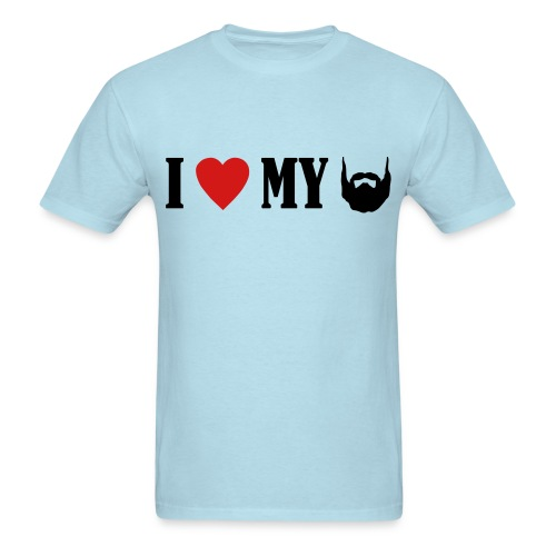 I Love My Beard - Men's T-Shirt