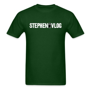StephenVlog Logo - White (Men's) - Men's T-Shirt
