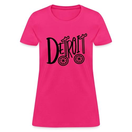 Detroit on Wheels - Women's T-Shirt