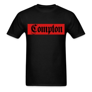Red & Black COMPTON tee - Men's T-Shirt