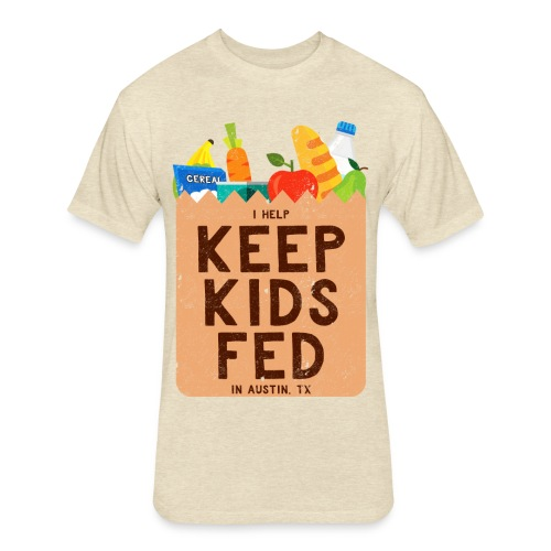 Keep Kids Fed - Fitted Cotton/Poly T-Shirt by Next Level