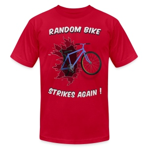 Random Bike Strikes Again! - Men's T-Shirt by American Apparel