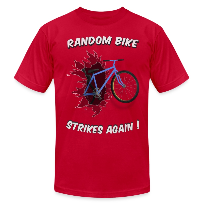 Random Bike Strikes Again! - Men's Fine Jersey T-Shirt