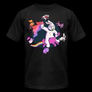 T-Shirts ~ Men's T-Shirt by American Apparel ~ Fun Bunny Ride w/Kittens