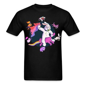Fun Bunny Ride w/Kittens - Men's T-Shirt