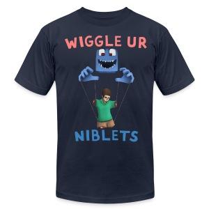 Wiggle Ur Niblets w/Cookie - Men's Fine Jersey T-Shirt