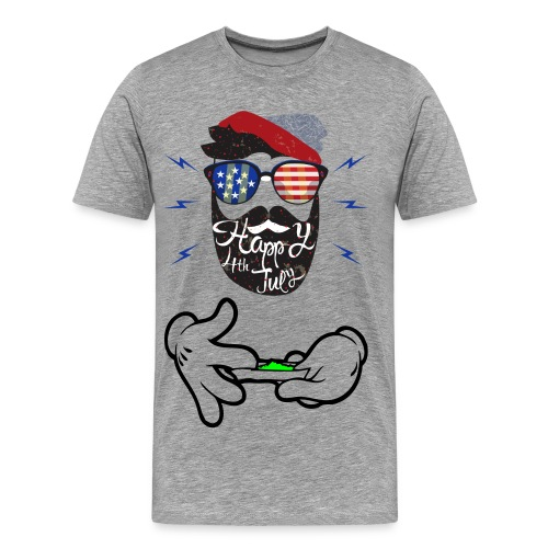 Mens Rolling up independence day shirt - Men's Premium T-Shirt