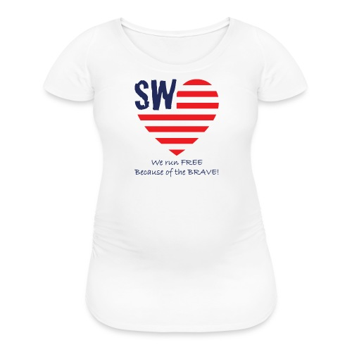Maternity We Run Free T-Shirt - Women's Maternity T-Shirt