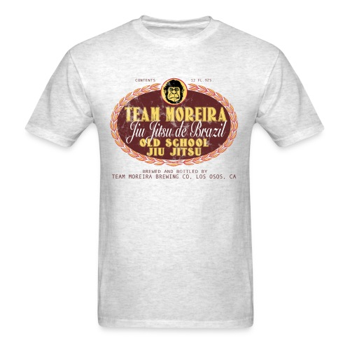 Team Moreira Aged Beer Label - Light Heather Gray - Men's T-Shirt