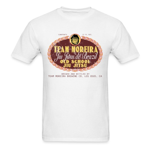 Team Moreira Aged Beer Label - White Shirt - Men's T-Shirt