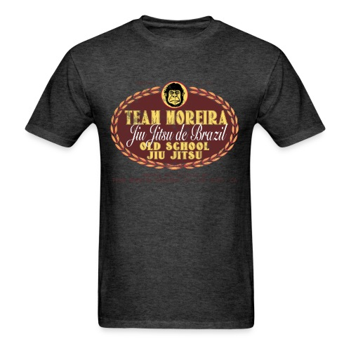 Team Moreira Aged Beer Label - Heather Black Shirt - Men's T-Shirt