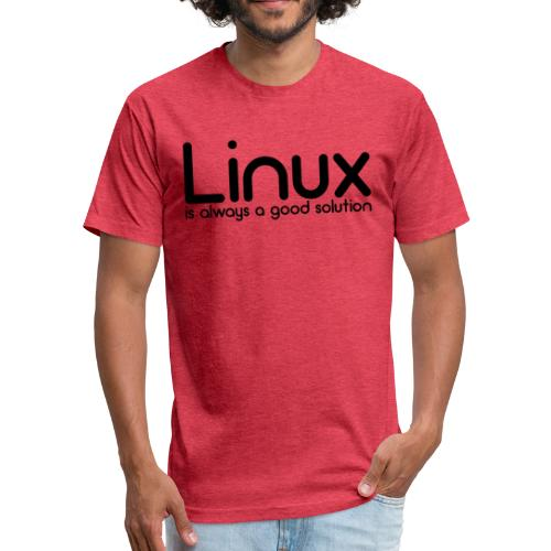 Linux - Fitted Cotton/Poly T-Shirt by Next Level