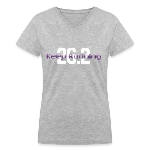 Keep Running 26.2 - Women's V-Neck T-Shirt