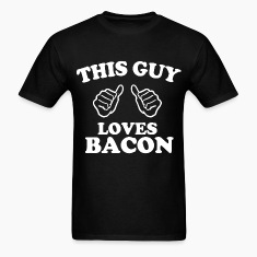 this guy loves bacon