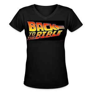 Back to the Bible - Women's V-Neck T-Shirt