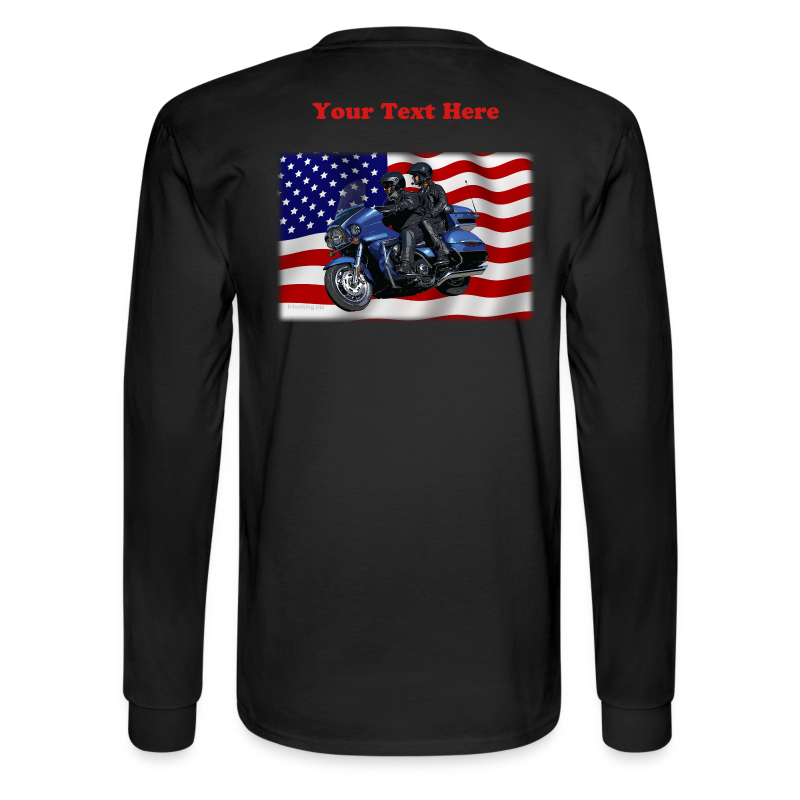 Men'sLSHanes_Back_FlagVV - Men's Long Sleeve T-Shirt