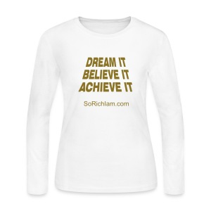 Believe - Women's Long Sleeve Jersey T-Shirt