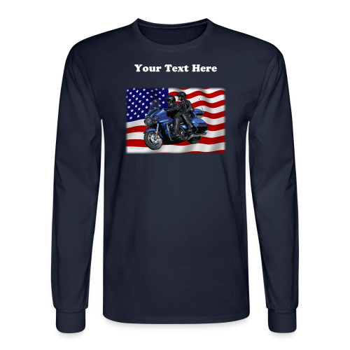 Men'sLSHanes_Front_FlagVV - Men's Long Sleeve T-Shirt