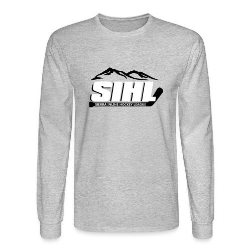 SIHL Adult Long Sleeve T-Shirt Grey w BW Logo - Men's Long Sleeve T-Shirt