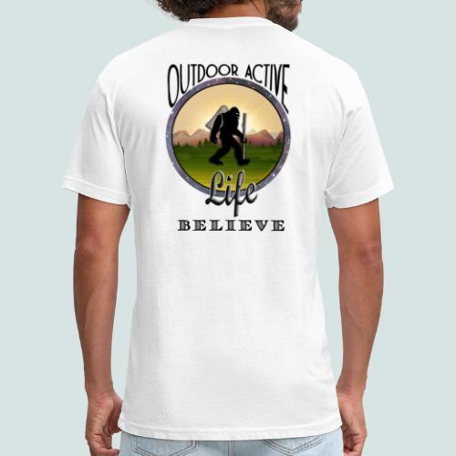 Men's BIGFOOT BELIEVE OutdoorActiveLife Fitted Cotton/Poly T-Shirt - Fitted Cotton/Poly T-Shirt by Next Level