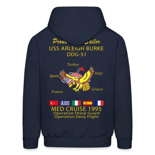 USS ARLEIGH BURKE 1995 CRUISE HOODIE - FAMILY - Men's Hoodie