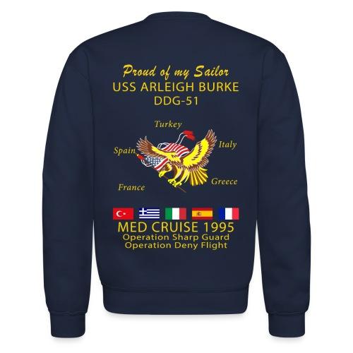 USS ARLEIGH BURKE 1995 CRUISE SWEATSHIRT - FAMILY - Crewneck Sweatshirt