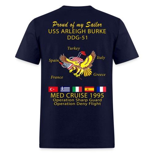 USS ARLEIGH BURKE 1995 CRUISE SHIRT - FAMILY - Men's T-Shirt