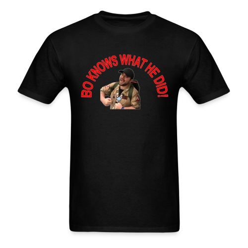 Bo Knows What He Did! - Men's T-Shirt