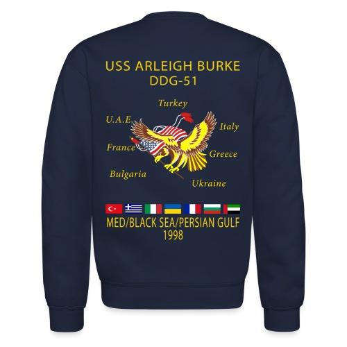 USS ARLEIGH BURKE 1998 CRUISE SWEATSHIRT  - Crewneck Sweatshirt